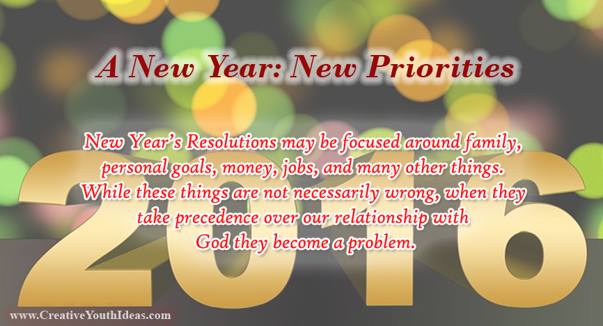 A New Year - New Priorities
